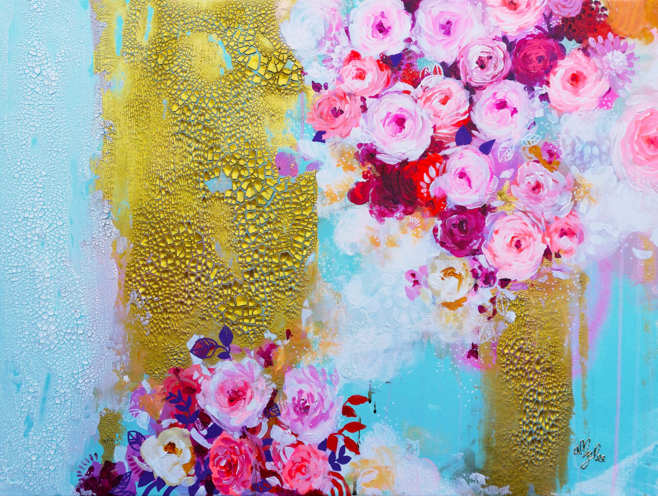 Flower Fountain - 80 x 60 cm