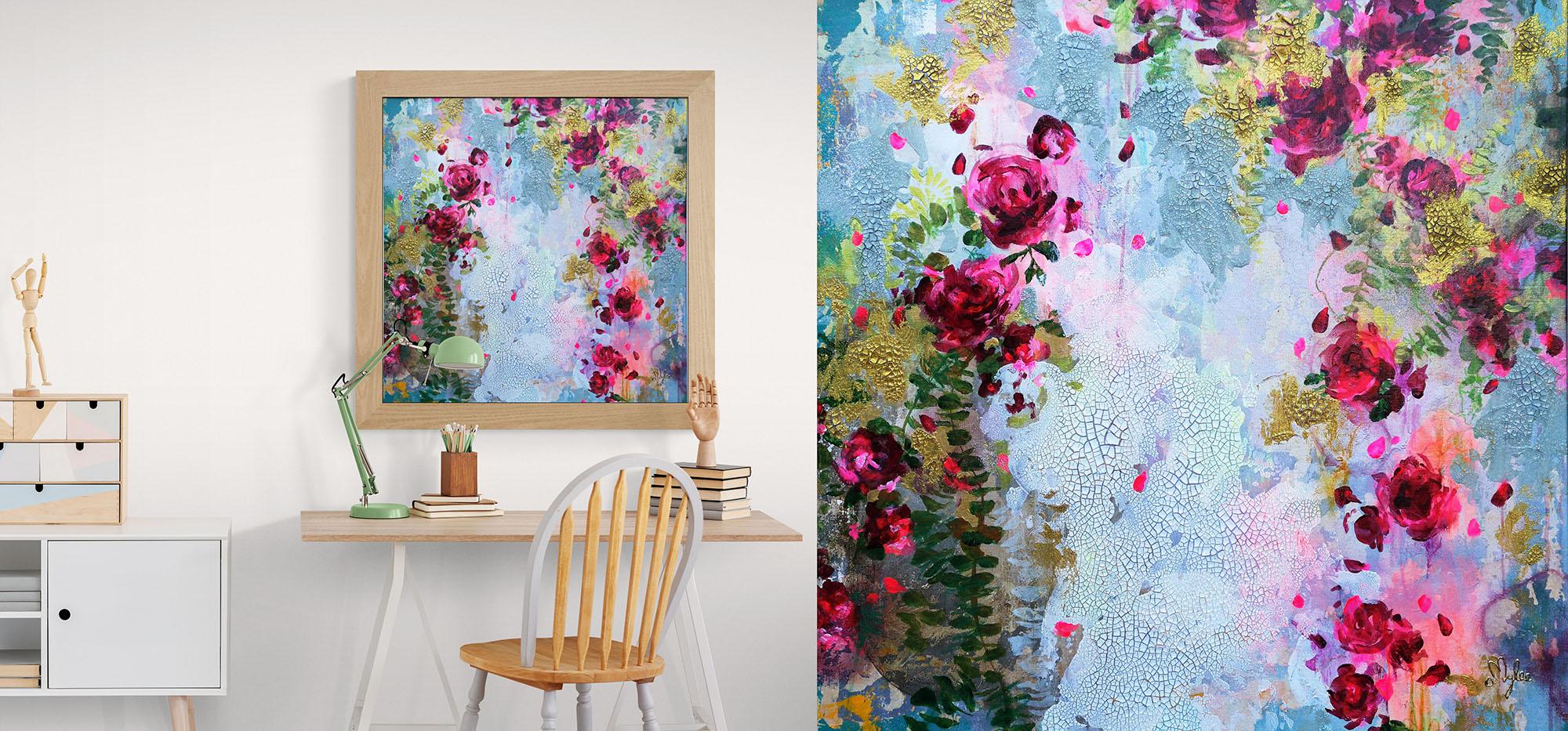 Twenty Roses - 80 x 80 cm