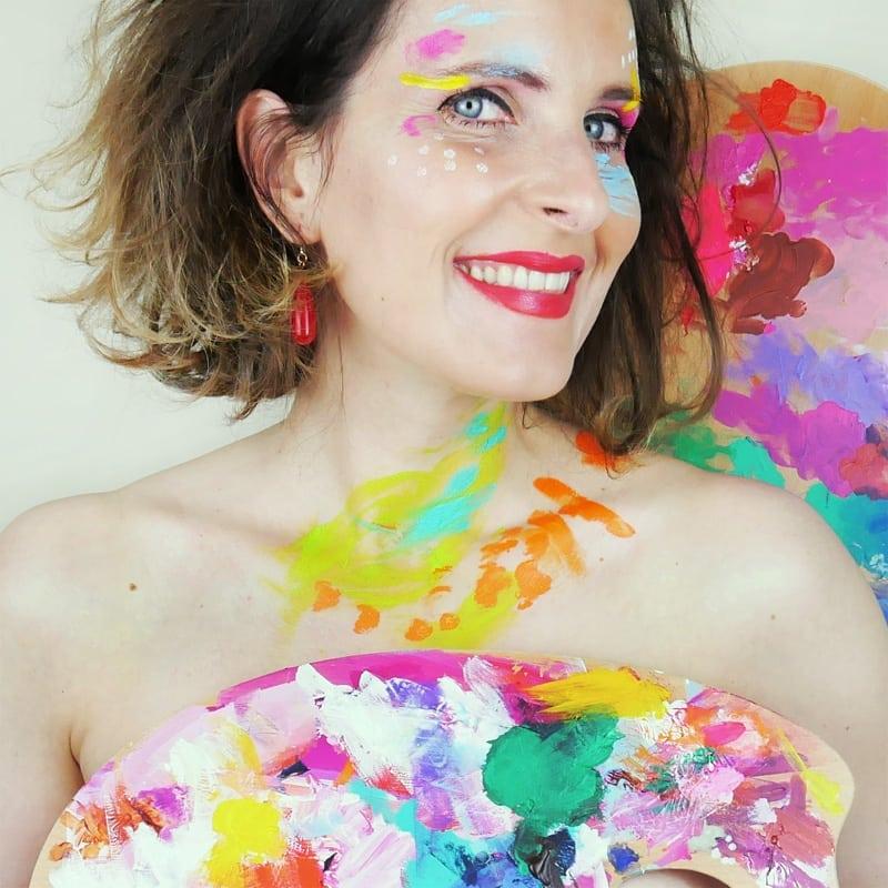 portrait artist colours beautiful
