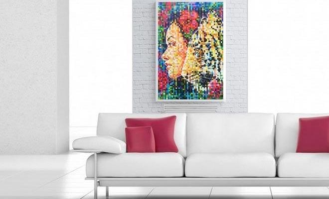 tableau pixelle r alis par l 39 artiste peintre amylee. Black Bedroom Furniture Sets. Home Design Ideas