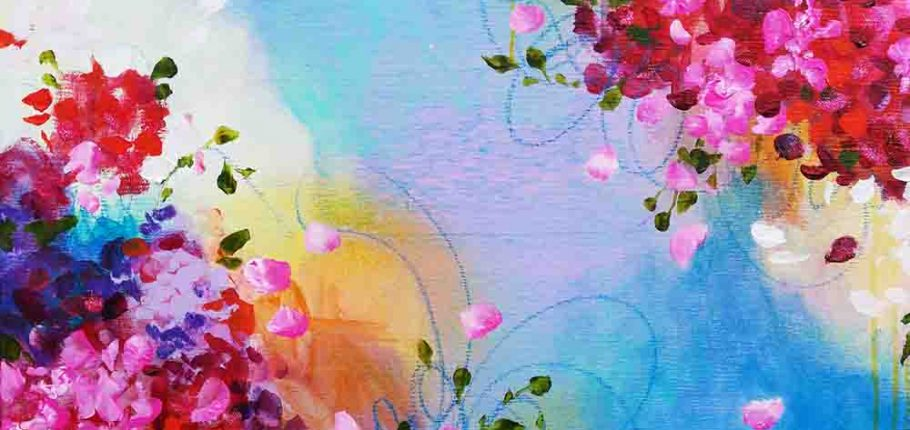 Blue Splendidness – 70 x 70 cm