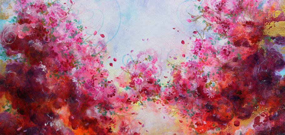 Crimson Appeal – 70 x 70 cm