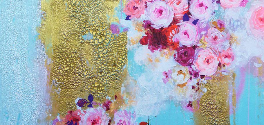 Flower Fountain – 80 x 60 cm