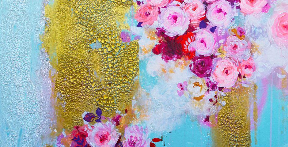 Flower Fountain - 80x60 cm