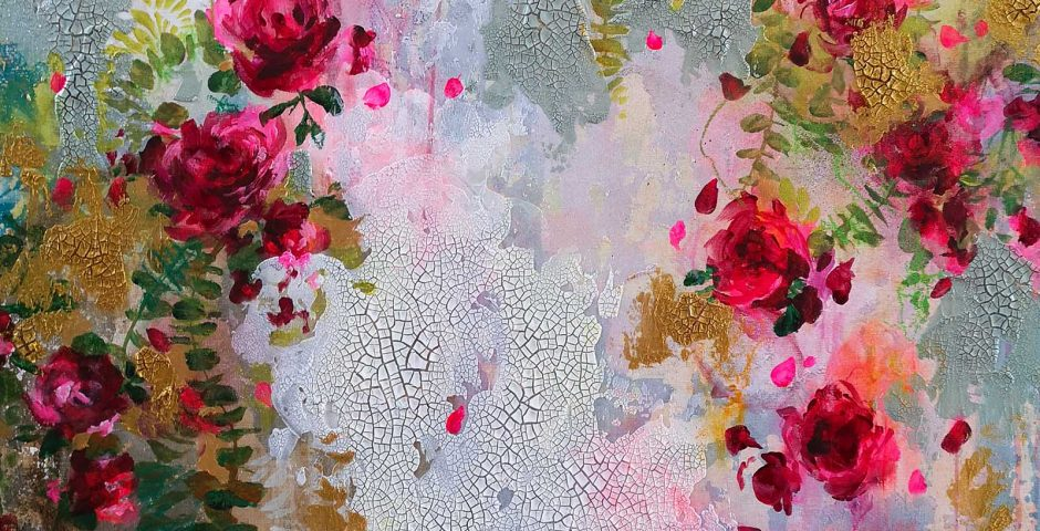Twenty Roses - 80x80 cm